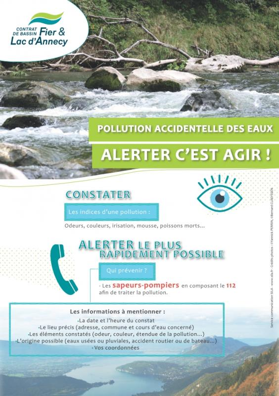 Affiche pollution eaux version bd